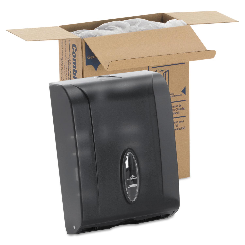 C-Fold/Multifold Towel Dispenser, 11 x 5 1/4 x 15 2/5, Translucent Smoke