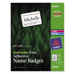 Avery® EcoFriendly Adhesive Name Badge Labels Thumbnail