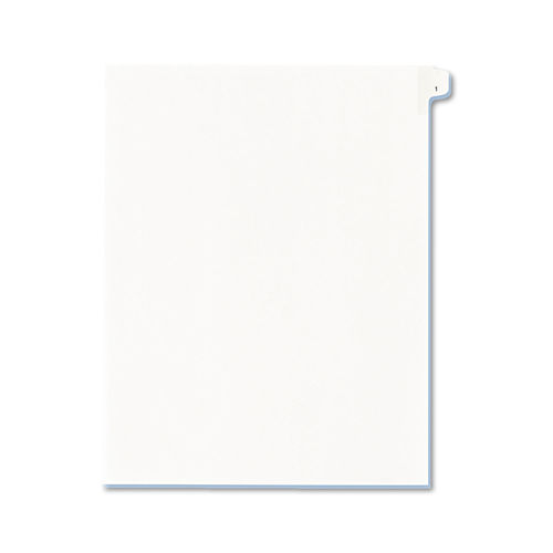 Allstate-Style Legal Exhibit Side Tab Divider, Title: 1, Letter, White,  25/Pack