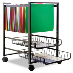 Advantus Mobile File Cart with Sliding Baskets Thumbnail