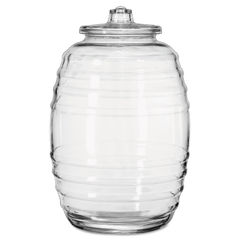 Libbey Glass Barrel with Lid Thumbnail
