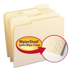 SMD10314 - WaterShed Top Tab File Folders, 1/3-Cut Tabs, Letter Size, Manila, 100/Box