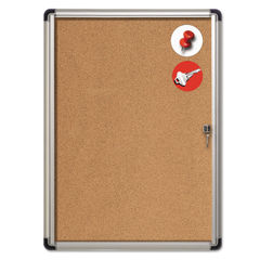MasterVision® Slim-Line Enclosed Cork Bulletin Board Thumbnail
