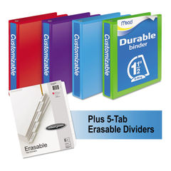 Mead® Durable D-Ring View Binder Plus Pack Thumbnail