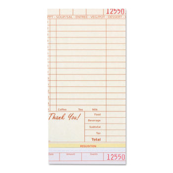 Guest Check Book by Royal RPPGC49973 | OnTimeSupplies com