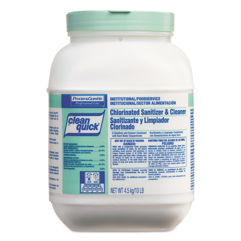 Powdered Sanitizer/Cleanser, 10lb Bucket, 3/Carton