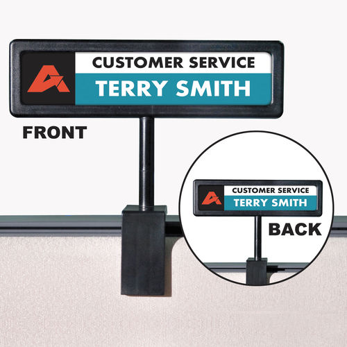 people pointer cubicle sign by people pointer avt75334. Black Bedroom Furniture Sets. Home Design Ideas