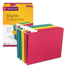 SMD64059 - Colored Hanging File Folders, Letter Size, 1/5-Cut Tab, Assorted, 25/Box