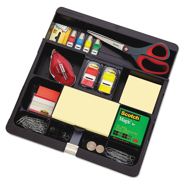 recycled plastic desk drawer organizer tray by post it mmmc71 rh ontimesupplies com ikea office desk drawer organizer