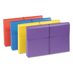"""SMD77300 - 2"""" Exp File Wallet w/Product Protection, Legal, Four Colors, 4/Pack"""