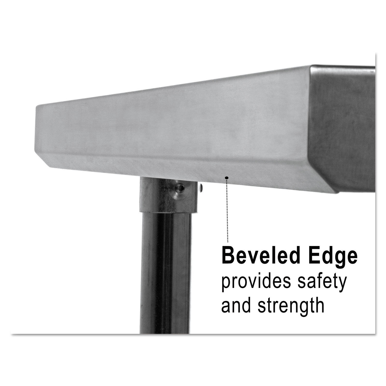 Silver 72 X 30 X 35 Reg Alera XS7230 Stainless Steel Table