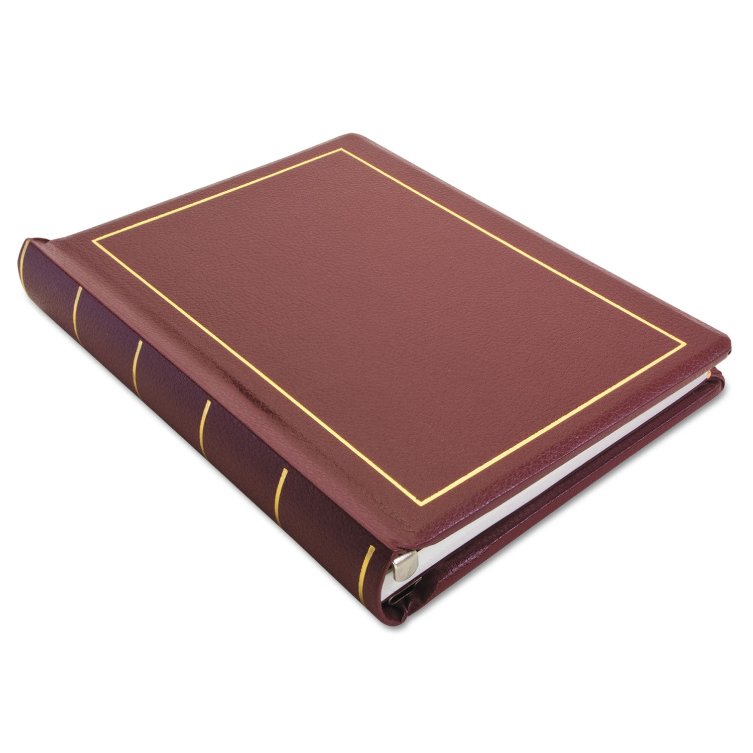 "Red w//Gold Trim 11 x 8.5 3 Posts Binder for Corporation Minutes 2/"" Capacity"