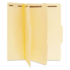 UNV10300 - Six-Section Classification Folders, 2 Dividers, Letter Size, Manila, 15/Box