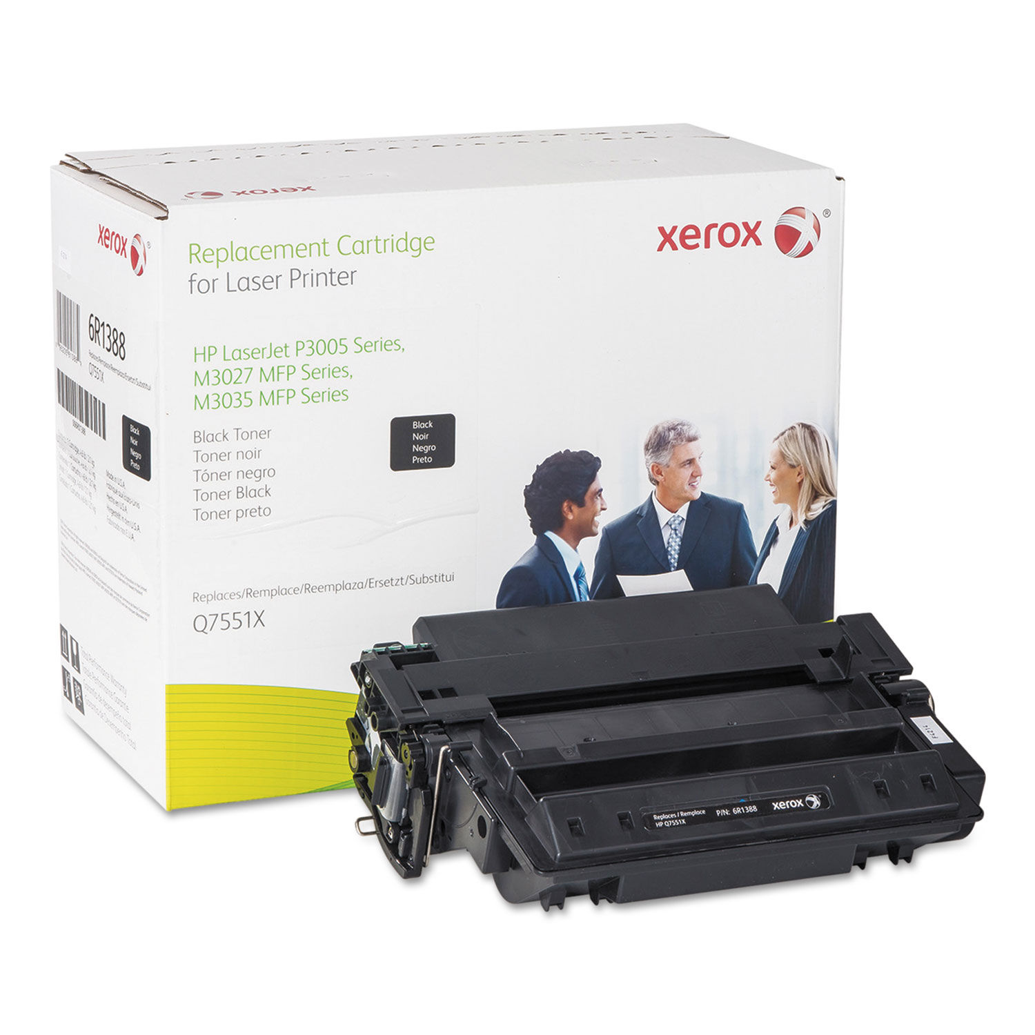 6PK High Yield Q7551X 51X Black Toner Cartridge For HP LaserJet M3035xs MFP