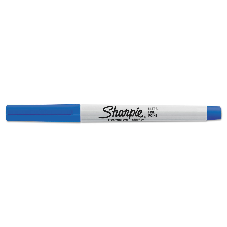 Ultra Fine Tip Permanent Marker Extra Fine Needle Tip Blue Dozen
