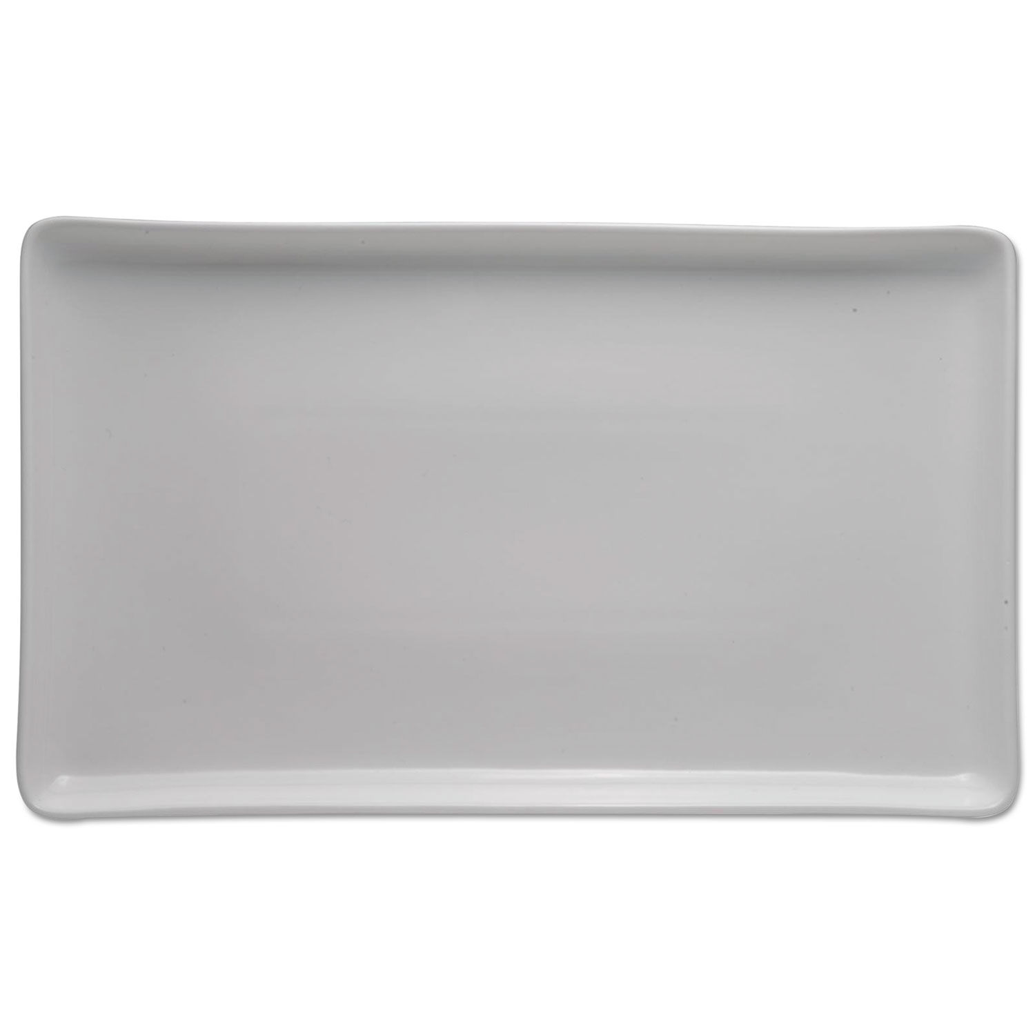 Chef's Table Fine Porcelain Serving Tray, White, 16 x 9 1/4
