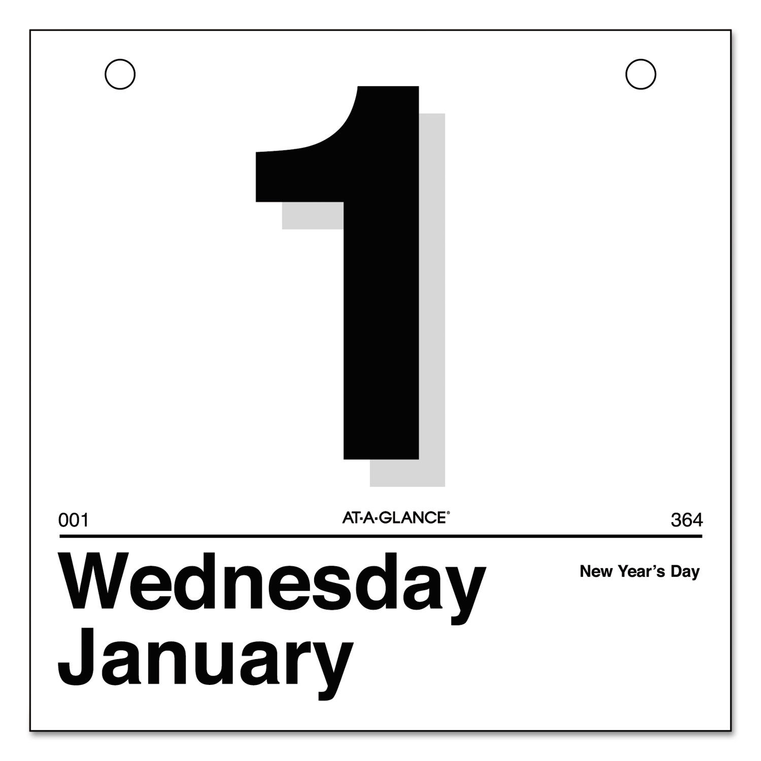 Today Is Daily Wall Calendar Refill by AT-A-GLANCE