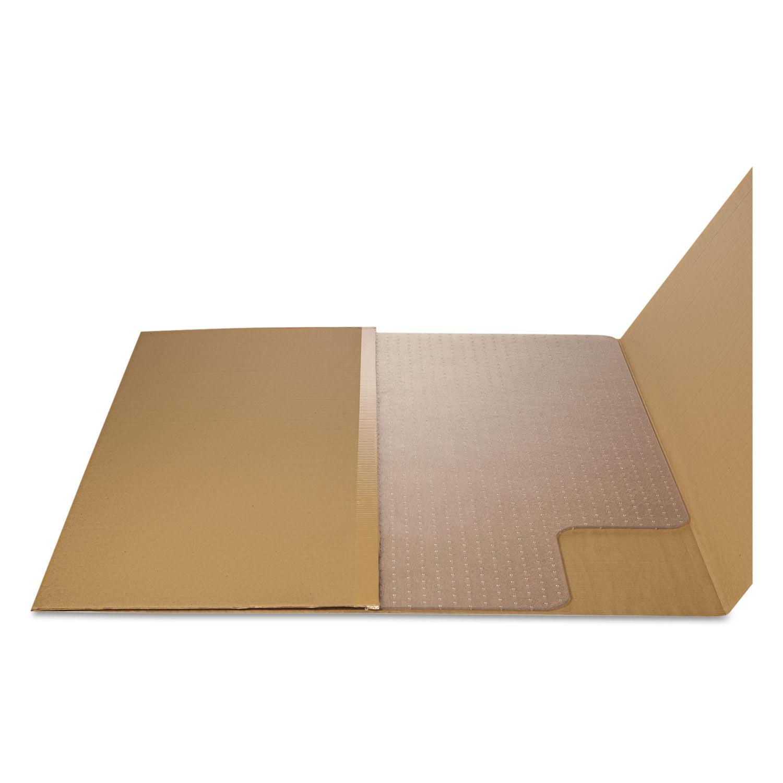 "Staples 45/"" x 53/"" Low Pile Carpet Chair Mat Lip 567298"