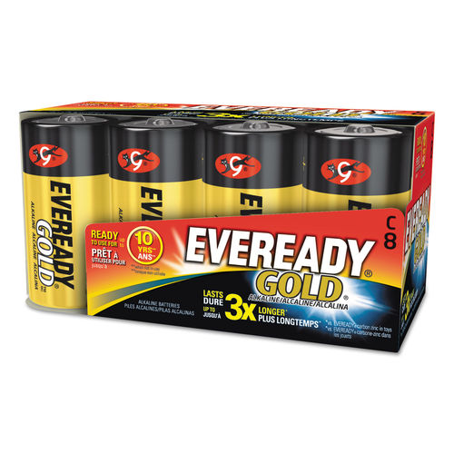 Gold C Batteries 1 5V 8 Pack