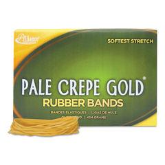 ALL20195 - Pale Crepe Gold Rubber Bands, Sz. 19, 3-1/2 x 1/16, 1lb Box