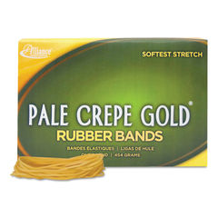 "ALL20195 - Pale Crepe Gold Rubber Bands, Size 19, 0.04"" Gauge, Crepe, 1 lb Box, 1,890/Box"
