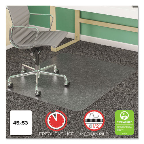 Supermat Frequent Use Chair Mat For Medium Pile Carpet By Deflecto Defcm14243com Ontimesupplies Com