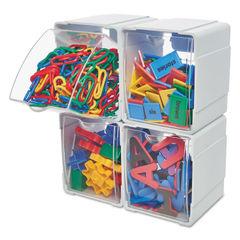 deflecto® Tilt Bin® Interlocking Storage Organizer Thumbnail