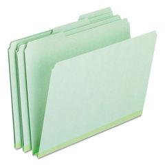 PFX17167 - Pressboard Expanding File Folders, 1/3-Cut Tabs, Letter Size, Green, 25/Box