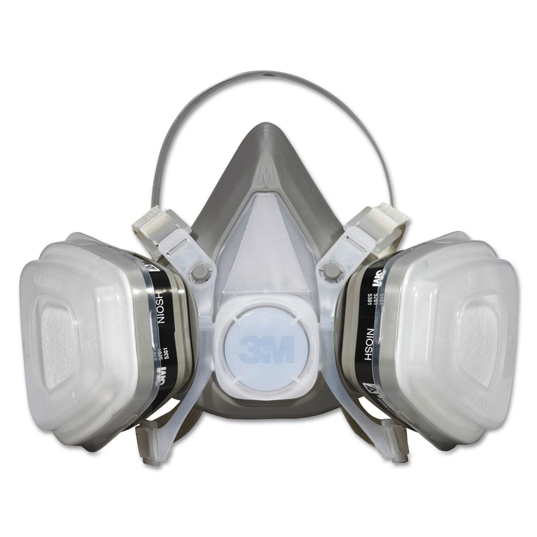 3m dual cartridge respirator mask ov/p95