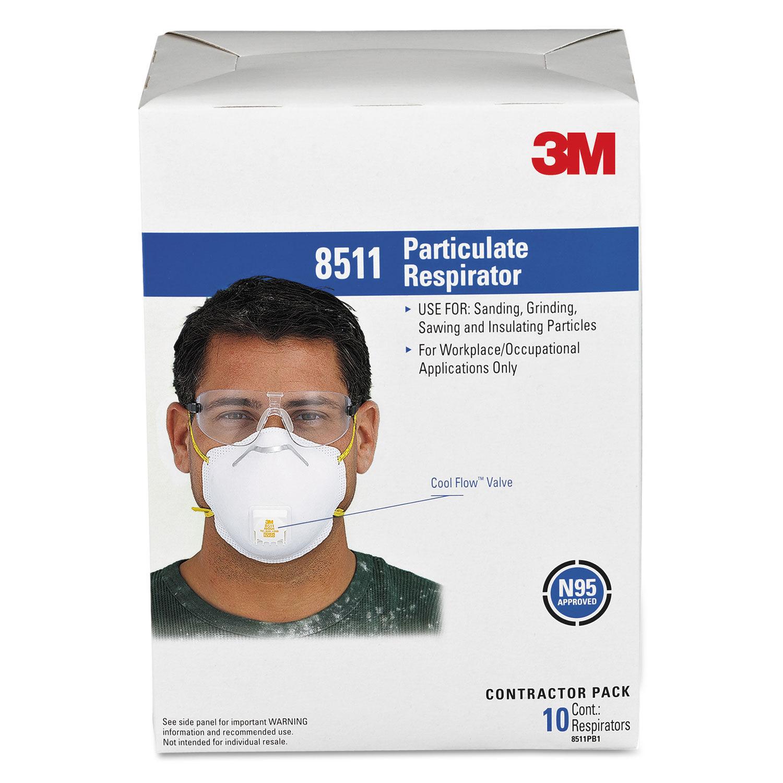 3m 8211 n95 disposable respirator masks 10/box