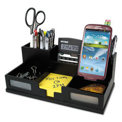 Victor® Midnight Black Desk Organizer with Smartphone Holder Thumbnail