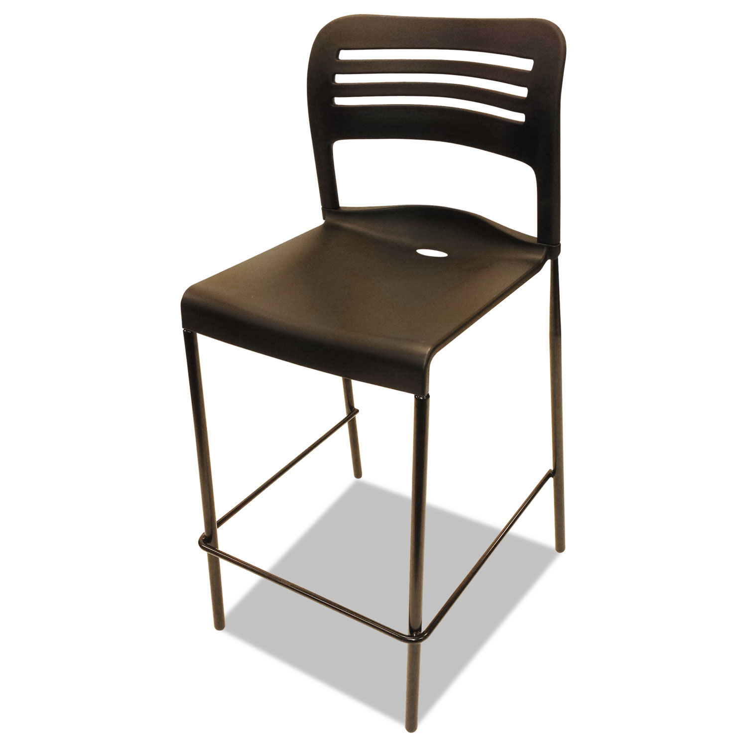 Excellent Counter Height Stacking Stool Black 2 Carton Gmtry Best Dining Table And Chair Ideas Images Gmtryco