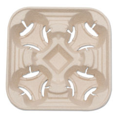 NatureHouse® Recycled-Fiber Heavyweight Four-Cup Carry Trays Thumbnail