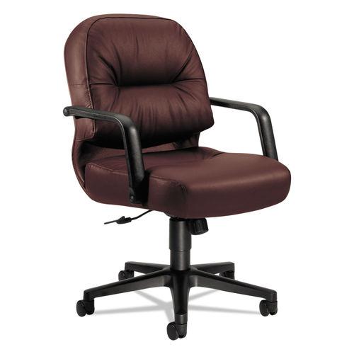 Incredible 2090 Pillow Soft Series Managerial Leather Mid Back Swivel Tilt Chair Burgundy Spiritservingveterans Wood Chair Design Ideas Spiritservingveteransorg