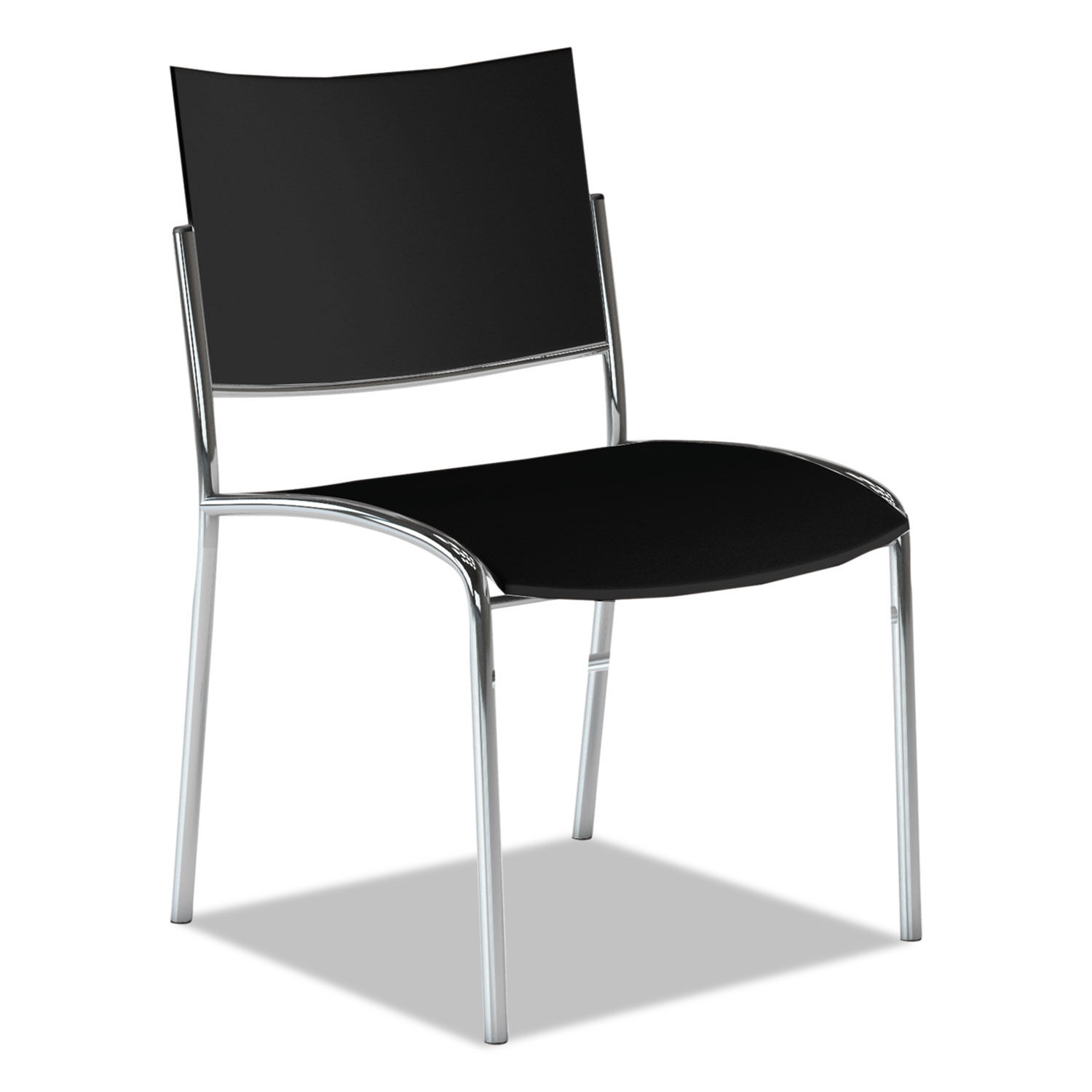 Escalate Stacking Chair Plastic Back Seat Black 4 Chairs Carton