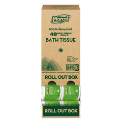 Marcal® 100% Recycled Convenient Roll Out Pack Bath Tissue Thumbnail