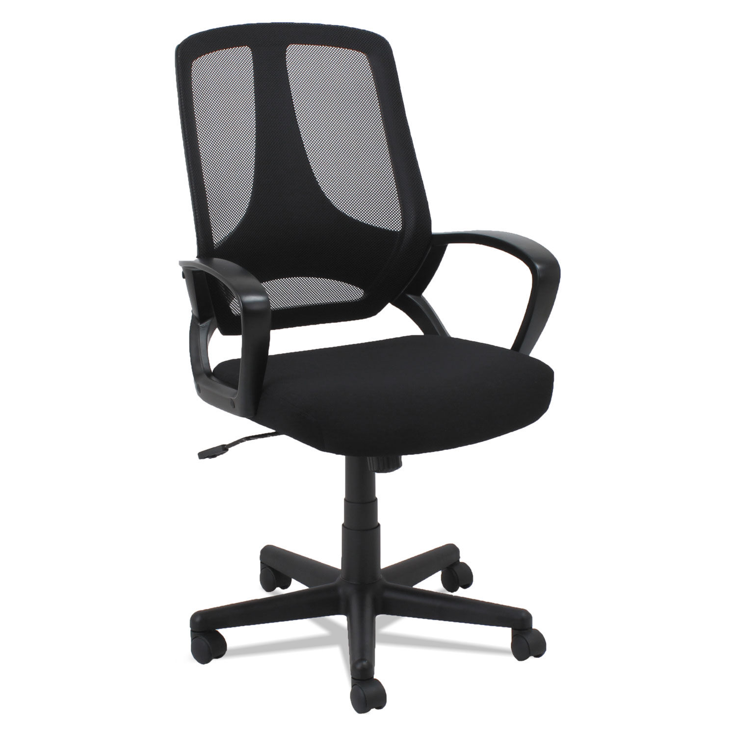 Terrific Mesh Office Chair Fixed Loop Arms Black Ocoug Best Dining Table And Chair Ideas Images Ocougorg
