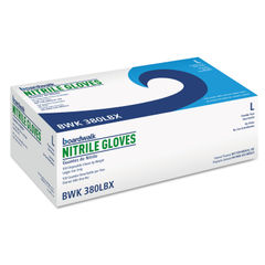 BWK380LBX - Disposable General-Purpose Nitrile Gloves, Large, Blue, 100/Box