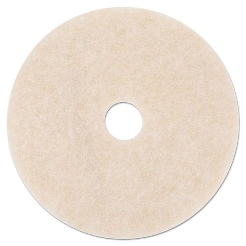 Ultra High Speed Topline Floor Burnishing Pads 3200 20 Dia White Amber 5 Ct