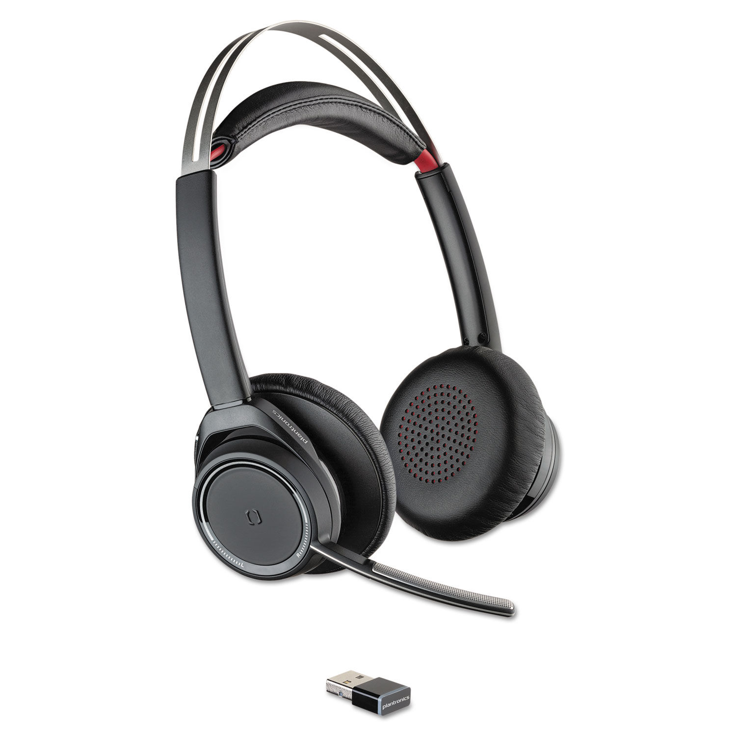 Voyager Focus Uc Stereo Bluetooth Headset System With Active Noise Canceling By Poly Pln20265201 Ontimesupplies Com