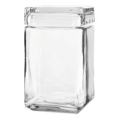Anchor® Stackable Square Glass Jar Thumbnail