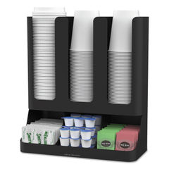Mind Reader Flume 6-Compartment Upright Coffee Condiment and Cups Organizer Thumbnail