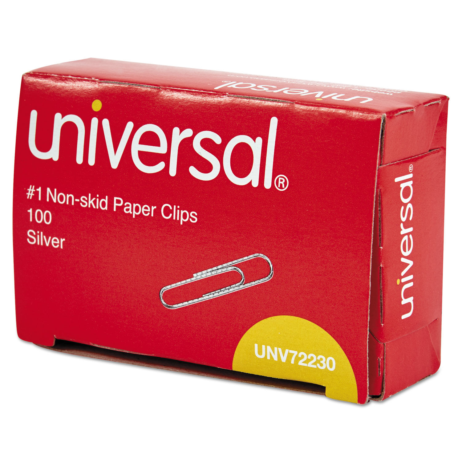 Paper Clips, Small (No  1), Silver, 100 Clips/Box, 10 Boxes/Pack
