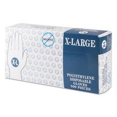 IBSGLXL2K - Embossed Polyethylene Disposable Gloves, X-Large, Powder-Free, Clear
