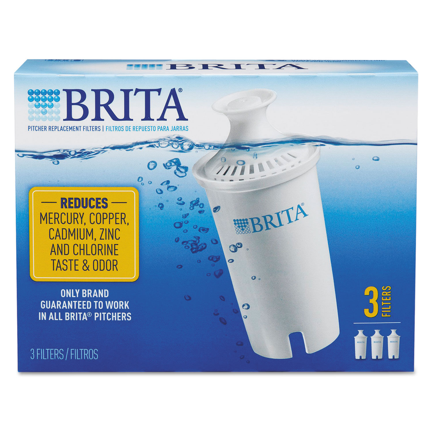 cf515eb8c25 Water Filter Pitcher Advanced Replacement Filters by Brita® CLO35503 ...