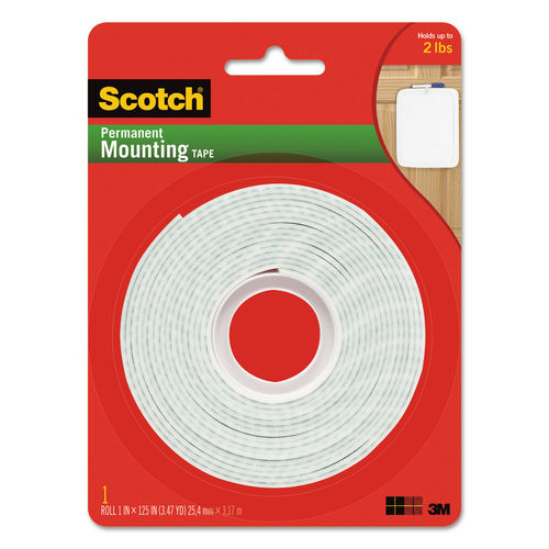 Permanent High-Density Foam Mounting Tape, 1