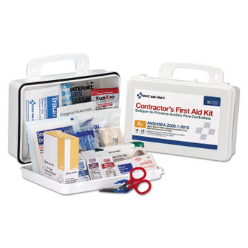 Contractor ANSI Class A+ First Aid Kit for 25 People, 128 Pieces