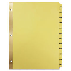 Universal® Deluxe Preprinted Plastic Coated Tab Dividers with Black Printing Thumbnail