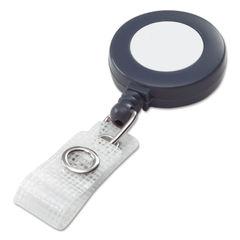 GBC® BadgeMates™ Plastic Retractable Name Badge Reel with Snap Closure Thumbnail
