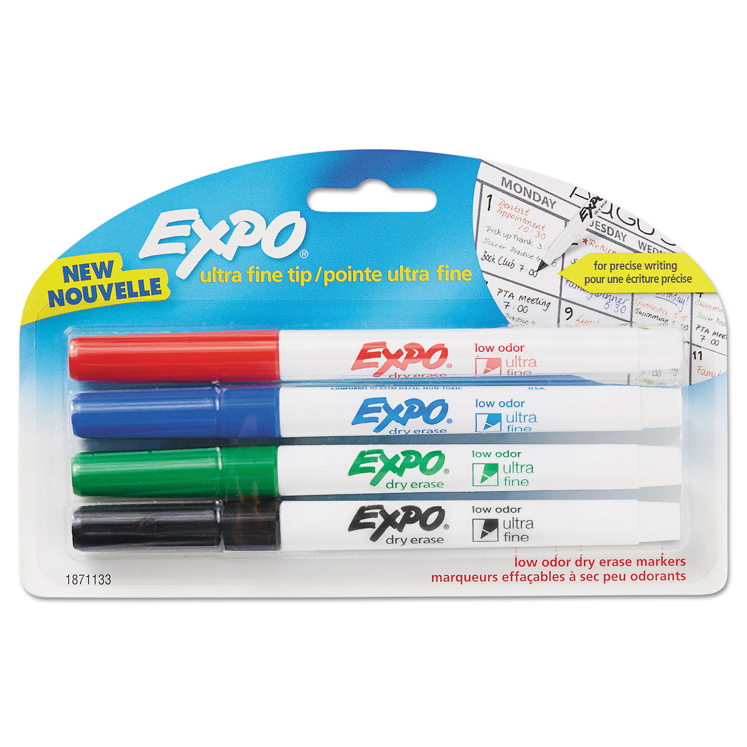 Pens & Pencils 4 Pack Dry Erase Markers